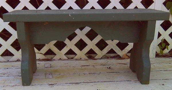 2x12 pressure treated garden bench